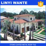 Telhas de telhado de metal revestido de pedra de cor
