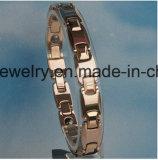 Form geschmälertes Titanstahlpaar-Armband mit Edelstahl-Schmucksachen