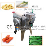 Pepino vegetal de la patata de la zanahoria del cortador del tubérculo que rebana destrozando la máquina de corte en cuadritos