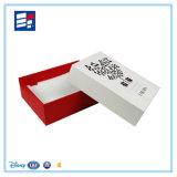 Caixa de presente de papel luxuosa feita sob encomenda do estilo da tampa para mostrar da roupa