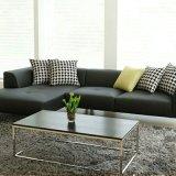 Sofá de sala de couro simples e moderno