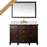Cabina de la vanidad del cuarto de baño del solo fregadero de mármol amarillento de Fed-1526A mini