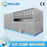 Große Kapazität 10 Tonnen Eis-Würfel-Maschinen-mit halb automatischem Verpackungs-System
