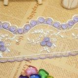 工場標準的な卸売8.5cmの幅の二色の刺繍の衣服のアクセサリ及びホーム織物のためのナイロン純レースポリエステル刺繍のトリミングの空想の網のレース
