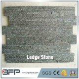 Panneau de mur en pierre de saillie de quartz de forme de Z pour le mur de caractéristique et le revêtement de mur de fond