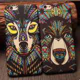 熱い魅力デザイン蛍光性アズテック派のアフリカ様式動物のパソコンiPhone 6のためのプラスチックカバーケース
