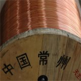 Fio de alumínio folheado de cobre do CCA do cabo do RF no cilindro de madeira