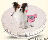 漫画デザイン印刷犬のベッドのクッションペット円形のパッド