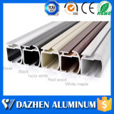 Heiße Legierungs-Aluminiumstrangpresßling-Profil der Verkaufs-Fenster-Vorhangschiene-6063 mit hölzernem Korn