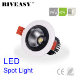 5W Round Aliuminum COB Black LED Spotlight