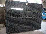 シマウマの黒い大理石、大理石のタイルおよび大理石の平板