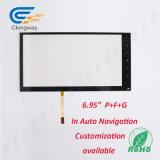 """6.95 """" vidrio transparente resistente del LCD del alambre de la película de cristal 4 del animal doméstico"""
