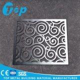 Painel cinzelado CNC para o teto de madeira do alumínio da grão