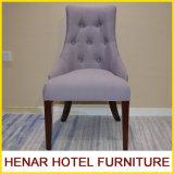 Restaurante moderno de madera del hotel de la tela púrpura que cena el último diseño de la silla