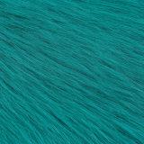 POM/Coatのための着色された毛皮の偽造品の毛皮ののどの毛皮の高く長い山の毛皮ファブリック