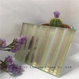 glace de verre feuilleté de miroir de gris de 5mm+Silk+5mm/sandwich/verres de sûreté en verre Tempered/