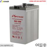 Batterij de Met lange levensuur van het Gel van de Levering van de macht 2V500ah voor UPS