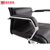 Schwarzer Farben-Chef-Leder-Büro-Stuhl mit Armlehne