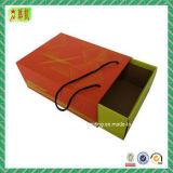 Rectángulo del cajón del rectángulo de papel de la cartulina con la maneta y la pieza inserta