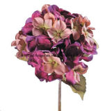 Únicas flores artificiais por atacado do Hydrangea, pulverizador do Hydrangea, haste do Hydrangea na cor-de-rosa