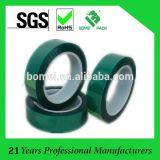 cinta verde de enmascarado da alta temperatura del poliester del animal doméstico 180c&400f