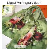 2017의 Silk Scarf 새로운 디자인 디지털에 의하여 인쇄되는 숄 형식 숙녀