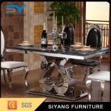 Feito no aço inoxidável de China que janta a cadeira e a tabela