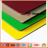 High-Gloss grüne Polyester-Beschichtung-Aluminiumdekoration-Panel des System-Firmenzeichen-3mm
