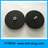 Magnete rotondo rivestito di gomma con la maniglia,