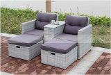 Meubles en osier de jardin de la vente 2017 de sofa de meubles extérieurs réglés chauds de rotin