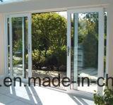 Doppio portello scorrevole di alluminio di vetro delle costruzioni commerciali con l'australiano