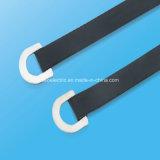 304 Ring-Verschluss-Kleber-überzogener Edelstahl-Kabelbinder für Elektrizität