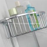 Cremalheira de canto removível chapeada cromada do triângulo da prateleira do banheiro com a série dois