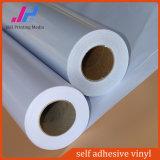 Etiquetas traseiras do vinil do PVC do branco para o material ao ar livre
