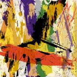 Pintura al óleo abstracta hecha a mano