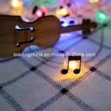 Quirlande électrique de lumière de chaîne de caractères de la forme DEL de note de musique 33feet 100 pour la noce RVB de Noël
