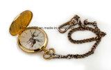 Chaîne de montre Pocket analogique d'or de quartz de logo fait sur commande 50mm