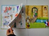 Impression faite sur commande de livre de tourillon avec le livre d'image découpé avec des matrices par page de puzzle