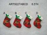 """6.5 """"H Plait Stocking com letras - Decoração de 4ª-Natal"""