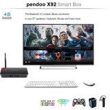 Faisceau 17.0 sec de Kodi Bluetooth 4.0 Octa de cadre de X92 Pendoo Amlogic S912 TV 2GB 16GB
