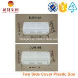 Caixa plástica do espaço livre do dispositivo da tampa bilateral