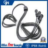 1 à 3 IP68 imperméabilisent le câble en caoutchouc avec le connecteur pour la DEL