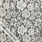 Tessuto del merletto del cotone del fiore bianco per il vestito dalle signore