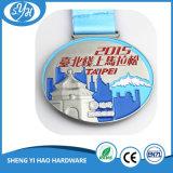 medalla corriente del recuerdo del metal del maratón 3D