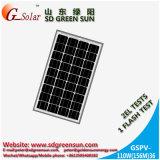Mono панель солнечных батарей 110W для солнечной электрической системы