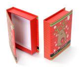Cadre de papier Shaped de livre de cadeau de Noël avec la fermeture magnétique