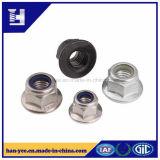 China-Hersteller-Nyloneinlage-Hex Flansch-Mutter