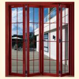 Puerta BI-Plegable de aluminio del metal para el uso del balcón