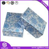 فضة زرقاء كلاسيكيّة خاصّ بالأزهار تصاميم حلق مدلّيات [جولري بوإكس]