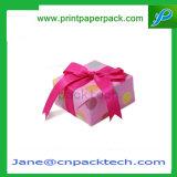 Rectángulo de regalo de papel de empaquetado de la Navidad de la confitería del chocolate de encargo del caramelo